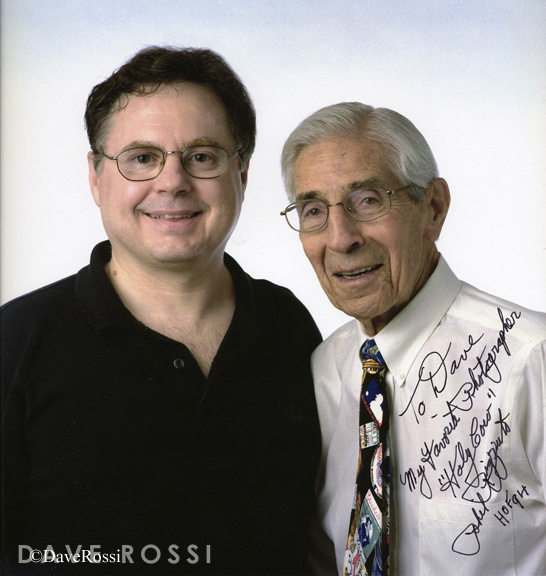 Phil Rizzuto and Dave Rossi,  his favorite photographer.